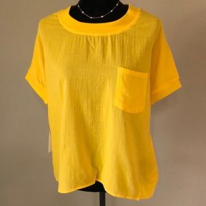 Anthropologie Callahan Canary Knit Blouse NWT